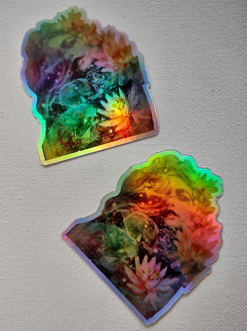 """Holographic Sticker - """"Lily Dreams"""""""