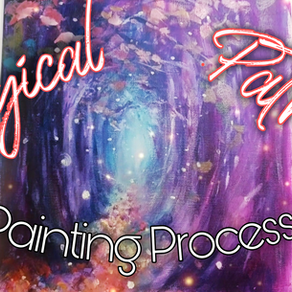 A Magical Path Acrylic Painting Process