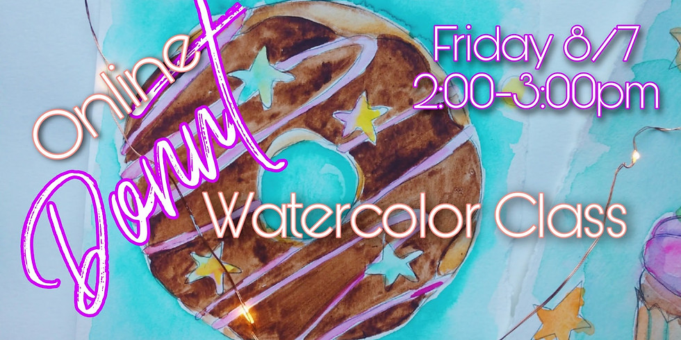 Donut Watercolor Class