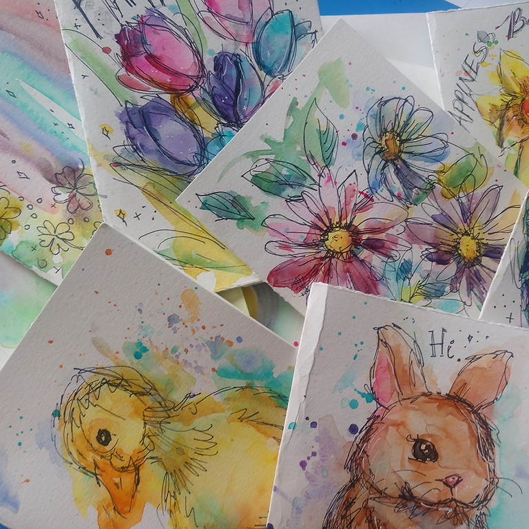 Loose Watercolors: Spring Card Workshop