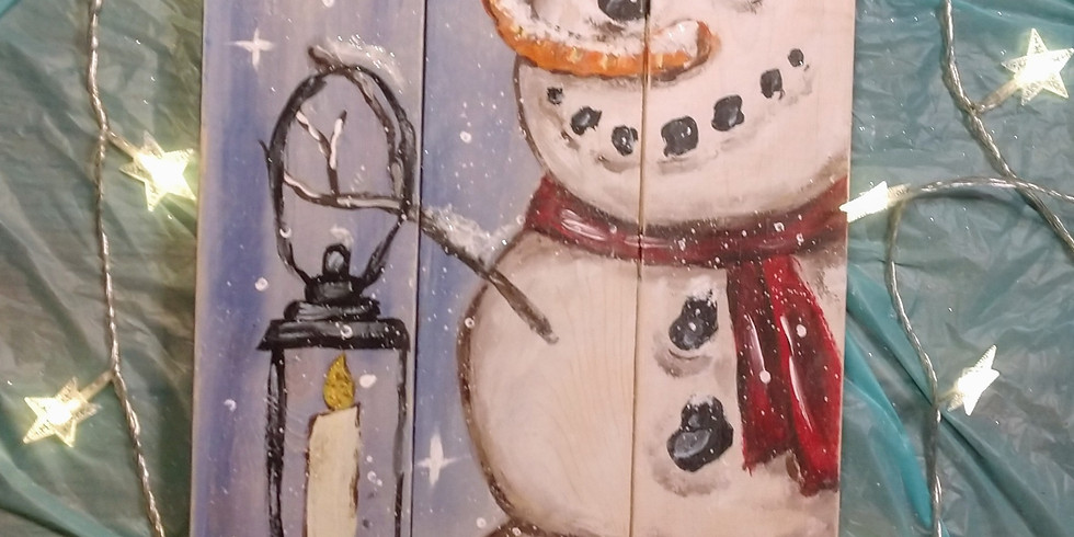 Snowman Online Painting Party