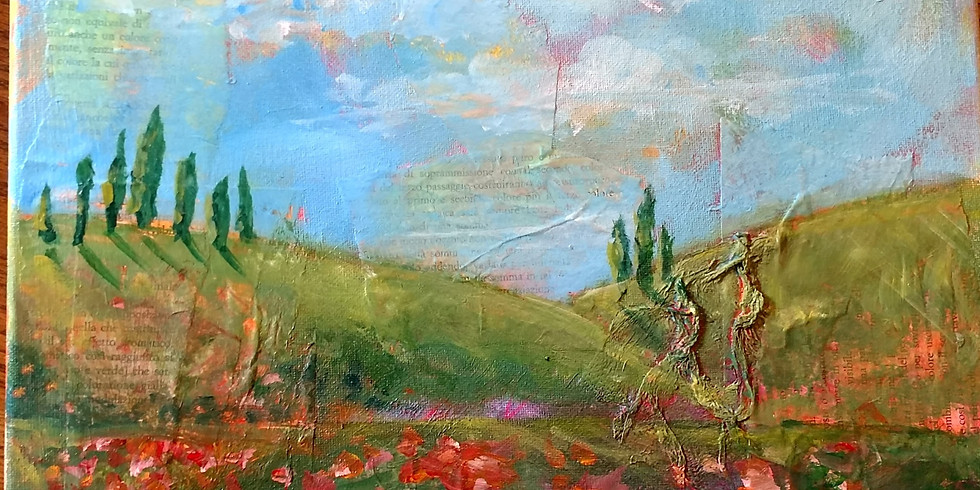 Online Italian Landscape Painting Party