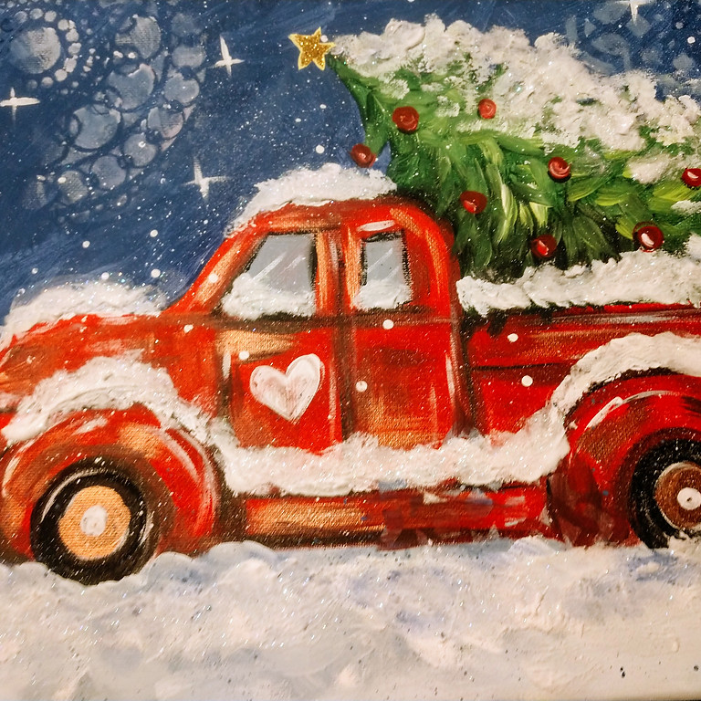 Truck 'n Tree Online Painting  Party