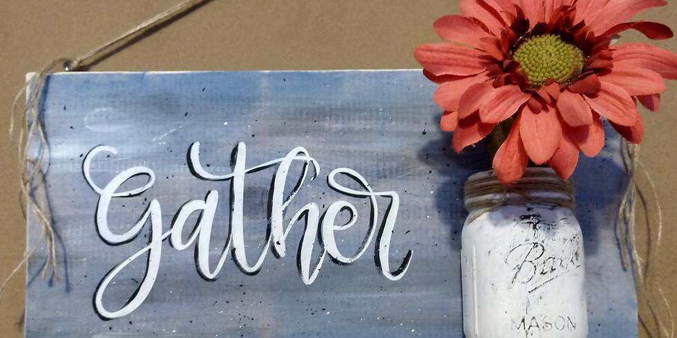 Mason Jar Sign Painting Party