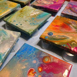 Paint Pouring Party Kits