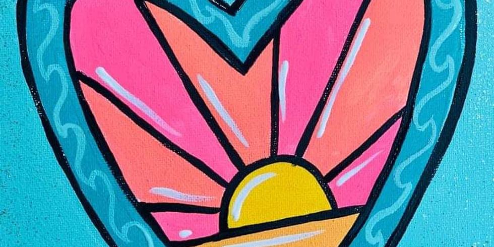 Heart Sunrise Paint Party Kit