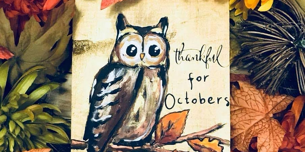October Owl Painting Party