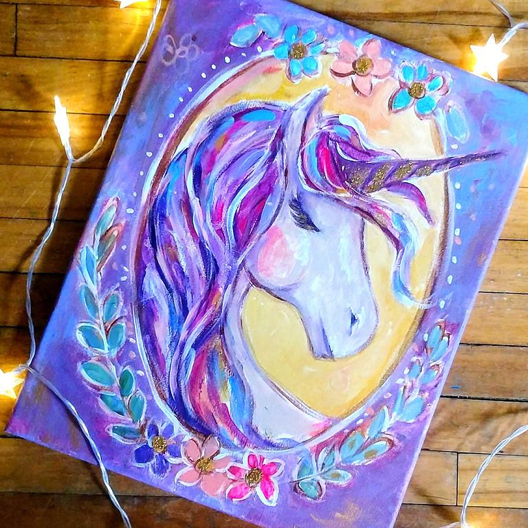 Virtual Unicorn Painting Party