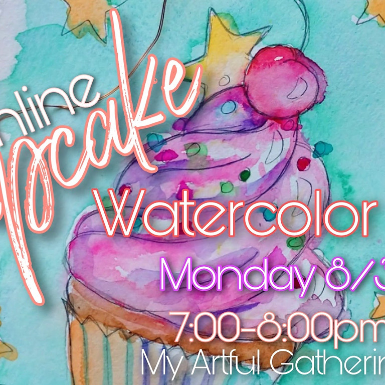 Cupcake Watercolor Class