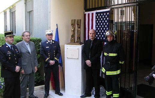 Jean Sébastien Raud artiste engagé terrorisme fraternité France Etats Unis inauguration de l'oeuvre