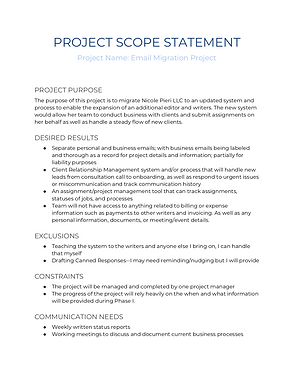 Project Scope Statement _ Email Migratio