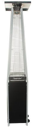 Black & Stainless GlassFlame Propane Patio Heater