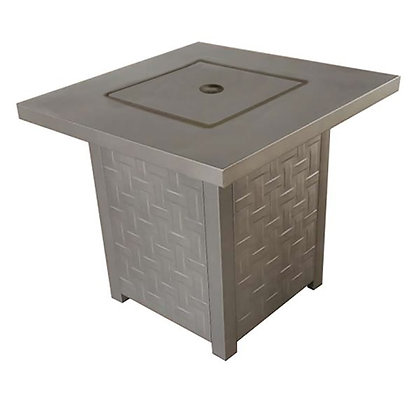 """Laureen 28"""" Square Steel Fire Table"""