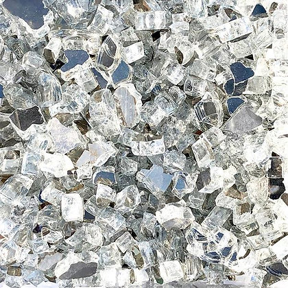 "Paramount Luminous 1/2"" Reflective Fire Glass - Diamond Ice"