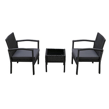 Melody 3pc Steel Frame Chat Set