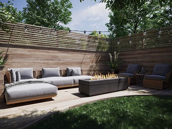 DreamCast Linea 72 Premium Concrete Fire Bowl