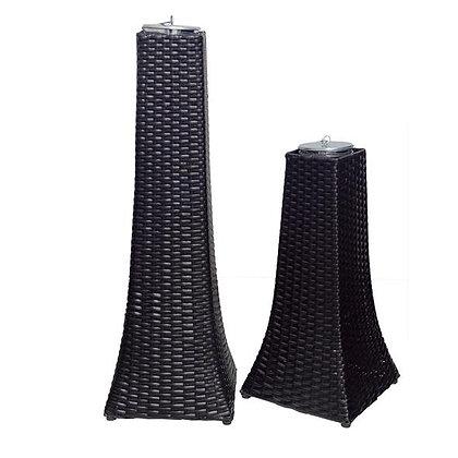 Towers Wicker Gel Burners ( Set of 2)