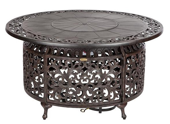 Round Outdoor Propane Fire Table