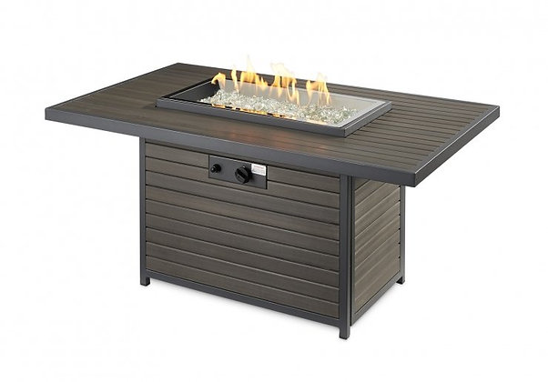 Brooks OGC Premium Rectangular Brown Fire Table