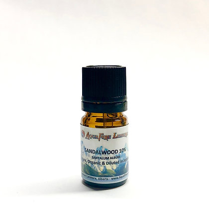 Sandalwood 10% 5mL Pure Essential Oil - Organic