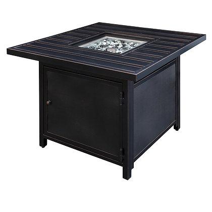 "Noah Aluminum 32"" Square Fire Table"