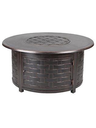 Zach Round Aluminum Convertible Fire Table