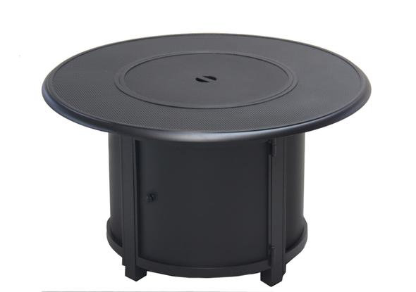 """Alan 42"""" Stamped Round Aluminum Propane Fire Table"""