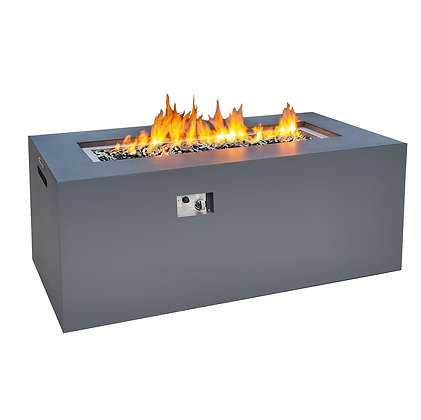 Tall Concrete Look Aluminum Fire Table