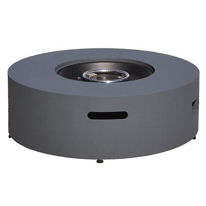 Low Concrete Look Aluminum Fire Table (Round)