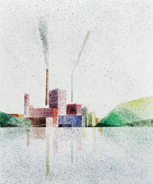 Tehdas piipulla ja savuilla / A Factory with pipe and smoke