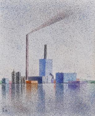Savuttava piipullinen tehdas 2 / A Factory with smoking pipe 2