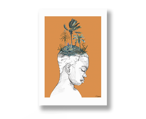 I am nature - Art Print