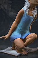 blue dress sculpture