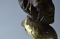 broken metal sculpture