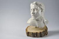 white sculpture man