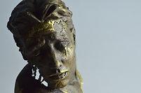 bronze portrait brass