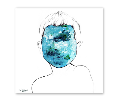 Restless Blue - Art Print
