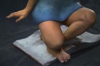 figuratice sculpture girl child