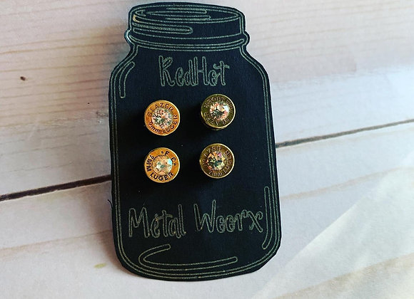 9mm Bullet Casing Earrings