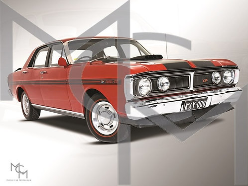 1971 Ford XY GT HO PH III - Track Red