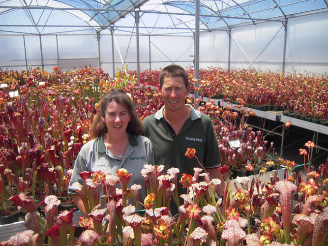 Jason and Donna in our Sarracenia house.