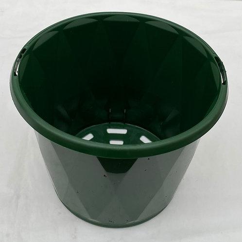 120mm plastic pots x 5 pots green