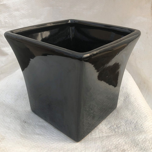 Ceramic Black Cone Pot - 03-DOL10-BLA
