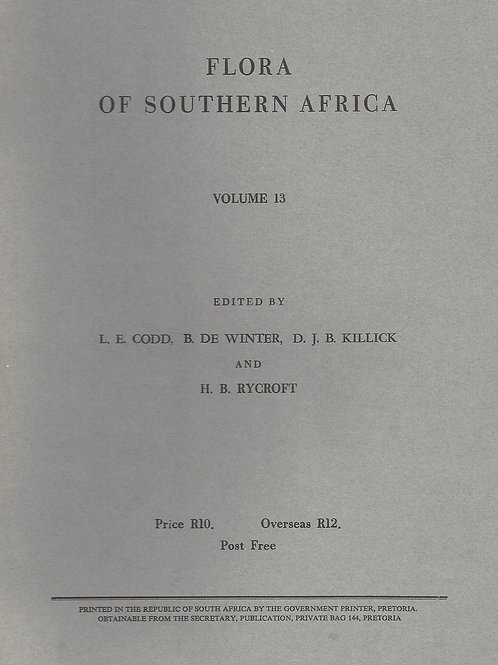 Flora of Southern Africa - Codd, De Winter, Killick, Rycroft