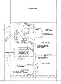 Plan of property with proposed nursery.