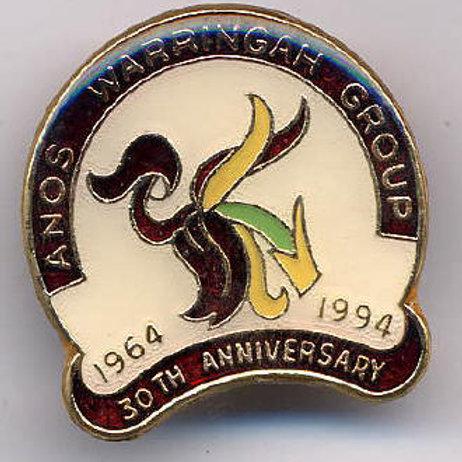 Australian Native Orchid Society, Warringah Group, 30th Ann.  $12