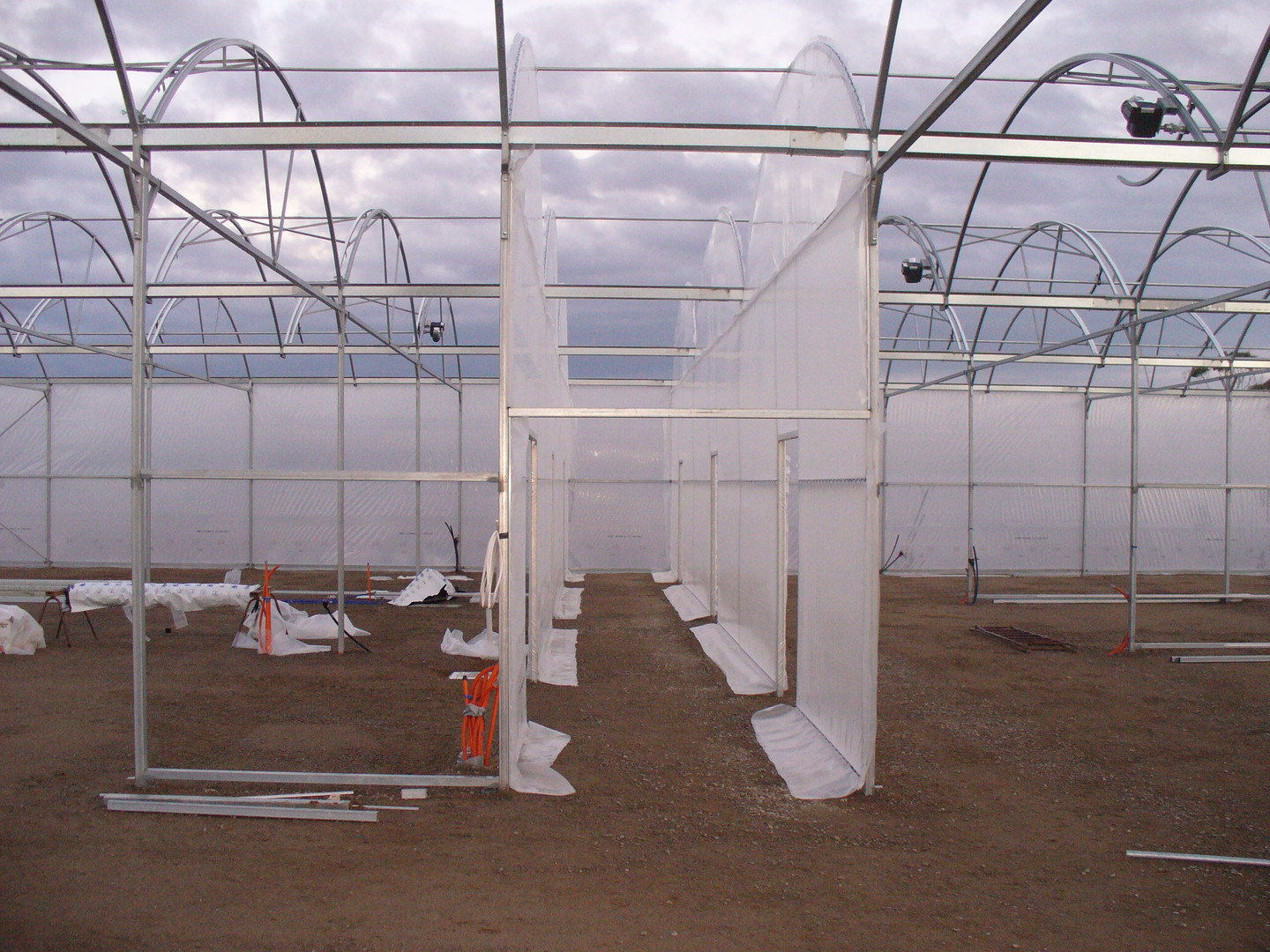 Middle passage way through nursery taking you to each individually temperature controlled growing room.