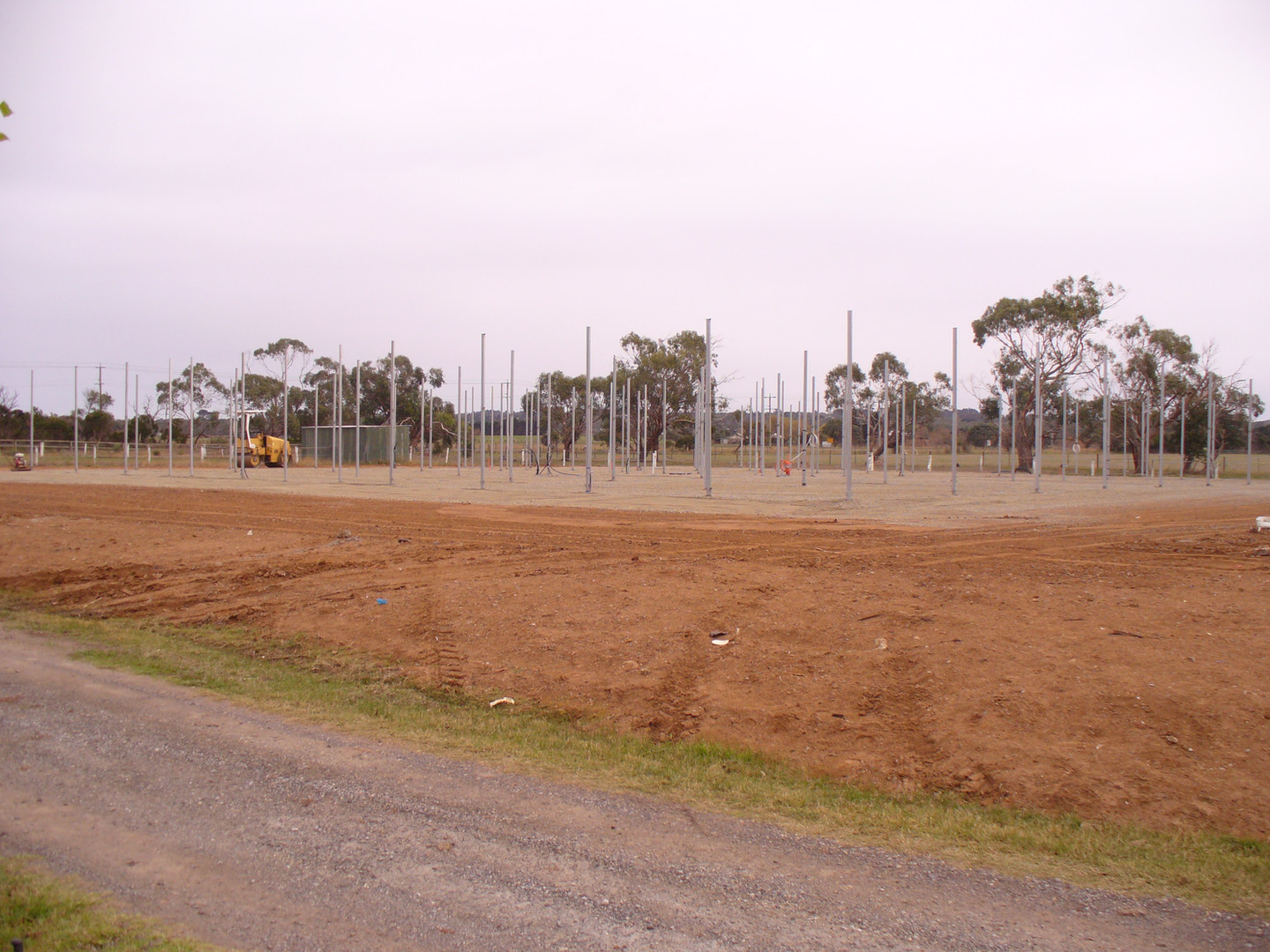 Wide view of nursery with crushed rock laid.