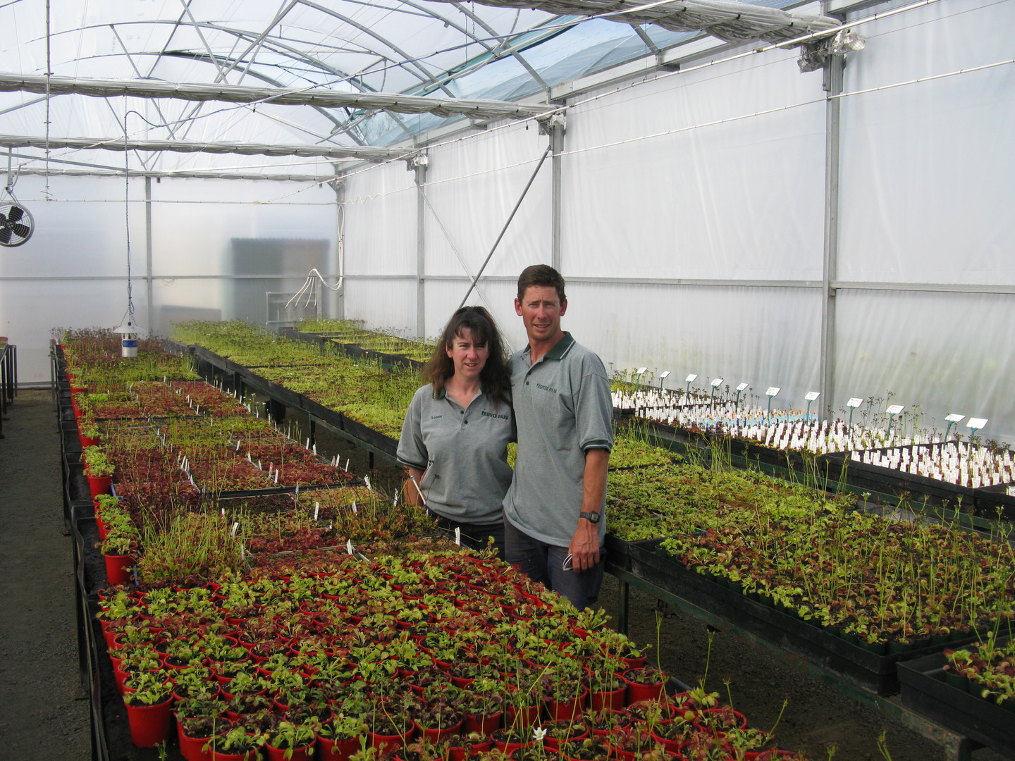Jason and Donna in our Venus Fly Trap house.