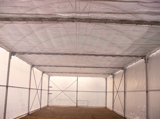 The thermal and shade roof screens are installed in 3 out of our 6 growing rooms.